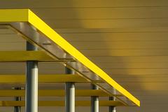Yellow construction (Jan van der Wolf) Tags: map185215v roof dak yellow geel columns pilaren pillars construction tankstation patrolstation