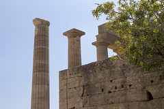 Lindos Akropolis Columns (ir0ny) Tags: rhodes greece lindos acropolis akropolis lindosacropolis lindosakropolis greek ancient ancientgreek temple greektemple athena templeofathena ruins ancientruins lindian