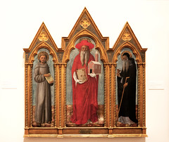 St. Jerome with St Francis and St. Anthony Abbot (Bob Gundersen) Tags: newyork franceslehmanloebartcenter vassar poughkeepsie usa bobgundersen robertgundersen gundersen nikon nikoncamera nikond600 d600 interesting image indoor inside interior art photo picture places museum shots painting