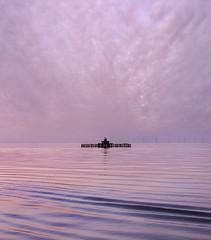 Dusk at Herne Bay (adrians_art) Tags: hernebay kent coast shore beach waves tide sunset dusk pier sky clouds structures patterns