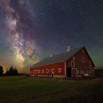 Milky Way - old red barn thumbnail