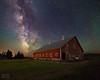 "Milky Way - old red barn (IronRodArt - Royce Bair (""Star Shooter"")) Tags: milkyway nightscape nightscapes starrynight nightsky barn redbarn oldbarn farm farming agriculture"