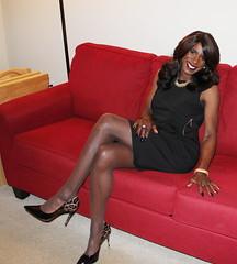Career Dress (darlene362538) Tags: transgender transvestite crossdress africanamerican beautiful pretty sexy legs pumps outre perm yaki