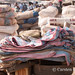 Korhogo morning market - sacks and sacking
