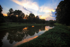 June Sunset In North Carolina (dorameulman) Tags: dorameulman sunset june summer landscape landscapephotography clouds sky colors reflections lake water canon7dmark11 canon