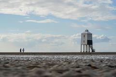 a walk to the lighthouse (SCRIBE photography) Tags: uk england somerset burnham beach lighthouse sand coast sea seascape landscape clouds sky people