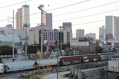 Atlanta, GA skyline (N.the.Kudzu) Tags: urban city atlanta georgia skyline rr tracks buildings train canondslr canoneflens lightroom