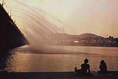 .pause a moment. (Camila Guerreiro) Tags: film sunset seoul southkorea analog camilaguerreiro bridge grain pentaxmesuper