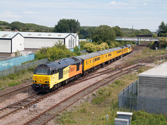 67027 (North East Rail Images) Tags: 67027 67023 passing pelaw junction with 1q28 0830 derby rtc heaton