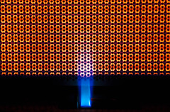 Line Symmetry - [MacroMondays - 20180625] (Arranion) Tags: macro macromondays macromonday linesymmetry canon eos 5d2 closeup symmetry patterns texture gas heater warm warmth blue orange flame