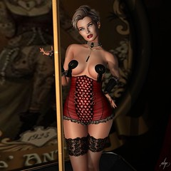 Dita (Algezares (III)) Tags: ghee gingerfish poses corset pasties stockings gloves nails elise rings slackgirl secondlife sexy sensual maitreya makeup mesh lelutka lingerie lace lencería lantic ebento