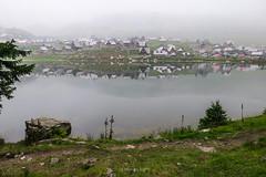 Prokoško Lake, Bosnia and Herzegovina (HimzoIsić) Tags: landscape lake water mountain mountainside village fog weather countryside rural tree hill serene