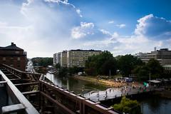 City of Malmö (Maria Eklind) Tags: view moln kaptensbron sky malmö sweden phusetanna himmel bro malmöfestivalen bridge clouds weather city parkingspace skånelän sverige se