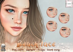 WarPaint* @ Whimsical - Beach Face kit (Mafalda Hienrichs) Tags: warpaint war paint secondlife whimsical event release blush contour highlighter beauty marks beach face catwa omega bento makeup applier