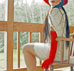 Well, what are we waiting for? (coollessons2004) Tags: vintage red woman beauty beautiful