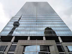 Skyscraper, Toronto, Ontario (duaneschermerhorn) Tags: toronto ontario canada city urban downtown architecture building skyscraper structure highrise architect modern contemporary modernarchitecture contemporaryarchitecture reflection reflective reflectivebuilding glass windows glassclad mirror distortion tower cntower