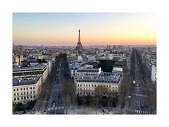 Paris at twilight (W Gaspar) Tags: paris france europe cityscape travel photoborder urban tower eiffel wgaspar iphone