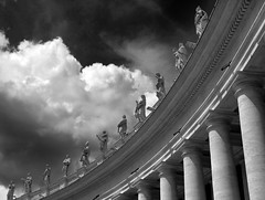 Vatican Colonnade (PJ Swan) Tags: vatican colonnade st peters square piazza san pietro vaticano roma rome statues