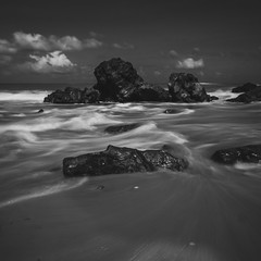 Backwash. - Miri, Sarawak. (Tony Kioh JunHui) Tags: miri tusan sony malaysia sonymalaysia water wow waterscape world bw explore beautiful beach rocolax rocks travel travelphotography travelscape truly asia long exposure longexposure love sky outdoor summer monochrome monoscape inspiration old motion sonya37 oblivion photography panorama landscape landscapes hdr sigma1020 digital sigma a37 clouds cloudscape cloudy blending black white nd400