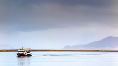 Coming Back (Nobbinumnut) Tags: reykjavik iceland water sea boat mountains landscape weatherphotography