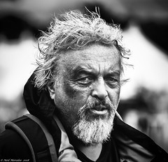 The Black Eye (Neil. Moralee) Tags: middevonshow2018neilmoralee neilmoralee man face portrait bruise black white eye bw bandw shocked battered injury injured huband dispute blackeye blackandwhite mon monochrome neil moralee nikon d7200 mid devon show old mature wrinkled strife fight beard wild hair people