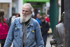 Denim on an older Dude (Frank Fullard) Tags: frankfullard fullard denim dude older candid street portrait blue levis beard hip fashion fashionista dressed