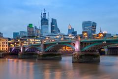 Across the River (Steve-P2010) Tags: london nightphotography bluehour cityscape afterdark riverthames londonskyline
