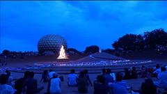 decorations_241fire (Manohar_Auroville) Tags: auroville sri aurobindo gathering amphitheatre matrimandir bonfire dawnfire birthday manohar luigi fedele