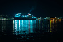 _DSC3779bS (Giorgos Boutos) Tags: greece chios harbour seaport ship vessel nikon night aegean