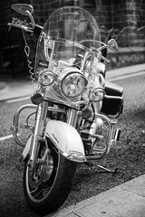Harley Davidson (Rich Presswood) Tags: fuji fujixpro2 mono monochrome mirrorless fujix bw blackandwhite black white whitby eastcoast seaside silverefexpro2 adobelightroom 7artisans 35mmf12