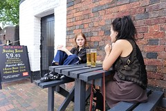 Refreshments (theo_vermeulen) Tags: drinking birmingham people candid street sitting beer canals