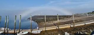 Cloud bow / rainbow--High moisture in the fog. Funday Fog