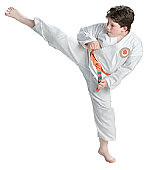 1001635072 (joe.needham@ymail.com) Tags: onepersononly 79years caucasian action barefoot belt boy brunette child childhood copyspace cutout demonstrating demonstration fists fitness kick kicking learning martialarts onwhite pose posing recreation selfdefense student uniform 25196255