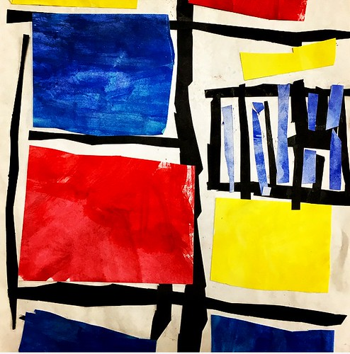 """Every year I get new favorites with this #kindergarten #pietmondrian  inspired painted paper gridded #collage ❤️❤️  They have such an amazing lyricism at this age that I admire so much. Want em all! • <a style=""""font-size:0.8em;"""" href=""""http://www.flickr.com/photos/57802765@N07/42086990310/"""" target=""""_blank"""">View on Flickr</a>"""