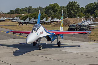 24-blue, Sukhoi Su-27UB Russian Air Force @ Kecskemet LHKE
