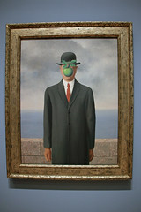 Le fils de l'homme (The Son of Man), by Rene Magritte (JB by the Sea) Tags: sanfrancisco california july2018 financialdistrict sanfranciscomuseumofmodernart sfmoma renemagritte surrealism surrealist painting