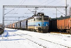HŽ 1141 214, freight train; Kutina, 14.1.2017. (Ceba97) Tags: 1141 zima snijeg snow winter hž cargo hrvatskeželjeznice hžcargo hž1141 asea kutina