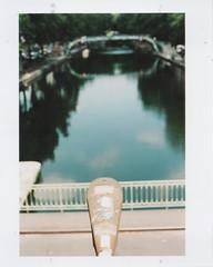 Canal (D'un instant à l'autre (Philippe Vaïsse)) Tags: minoltaxe1 paris fb couleur reflet nuages eau