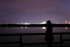 Silhouette in der Nacht (Felix Förster Fotografie) Tags: nacht lingen emsland geeste speicherbecken