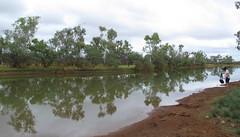 Venita beside Billabong (spelio) Tags: australia remote wa western june 2011 pilbara travel