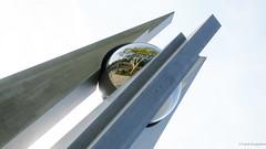 Mirror ball (frankdorgathen) Tags: ruhrpott ruhrgebiet rüttenscheid essen alpha6000 sony sony18200mm minimalistic minimalism weitwinkel wideangle perspektive perspective exhibition messeessen spiegelung reflection