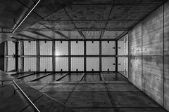 Rooftop (Leipzig_trifft_Wien) Tags: leipzig sachsen deutschland de building architecture lines geometry structure pattern forms shape concrete staircase modern contemporary black white bnw contrast pov perspective