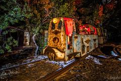 Tren minero abandonado de Portman III (Yorch Seif) Tags: noche night nocturna nocturnal lightpainting longexposure largaexposicion estrellas stars d7500 tokina1116 portman trenminero cartagena