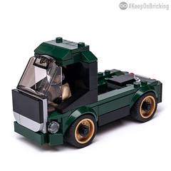 75884 Euro Truck (KEEP_ON_BRICKING) Tags: lego moc car vehicle truck speedchampions speed champions remake alternatae mod legoset set ford mustang dark green 75884 2018 alternate model remix alternative