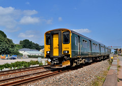 150232, Dawlish Warren, 06/08/2018 (CF Rail Photography) Tags: 150232 class150 dmu dieselmultipleunit greatwesternrailway gwr 2c69 cardiffcentral plymouth 06082018 dawlishwarren devon seawall