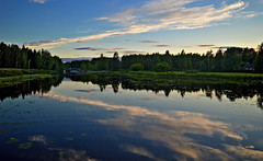 Reflections. Night on the lake Päijänne, Finland, summer. Time is 22:37. (L.Lahtinen (nature photography)) Tags: summer finland midsummer midnightsun landscape night reflections sysmä majutvesi scenery