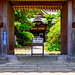 At the gate of Annyo-in Temple in Kamakura : 安養院(鎌倉市大町)にて