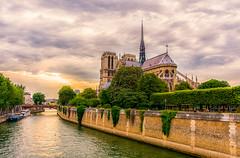 Notre Dame Sunset (Scottmh) Tags: 2018 europe notre paris cathedral d7100 dame france june nikon summer sunset travel