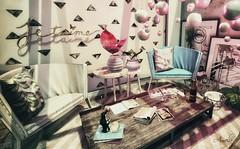 shadows in pink.. (ravenwings resident) Tags: bazar collabor88 dahlia fameshed fancydecor haikei keke merak pocketgacha reign soy tres blah