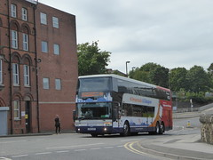 Stagecoach Western (on loan to Yorkshire) 50225 OU59 AUY on Rail Replacement, Malkin St, Chesterfield (sambuses) Tags: stagecoachwestern stagecoachyorkshire x76 50225 ou59auy railreplacement